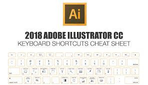 computer key board shortcuts 2018 adobe illustrator keyboard shortcuts cheat sheet make a
