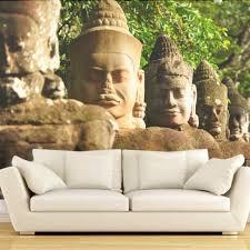 Boeddha In De Bergen Livingroom Achtergrond 3d Behang Mural