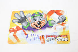 an image relevant to this listing chuck e cheese gift card