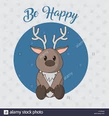 Cartoon Design Reindeer Cartoon Design Stock Vector Art Illustration