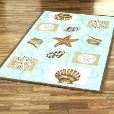 starfish outdoor rug area beach themed rugs tropical sea star round nautical full theme