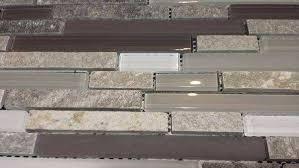 Quartz Tile Backsplash Lovely Gray Quartz Stone Mosaic With Light Gray  Glass Tile
