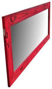 red mirror reclaimed wood mirror