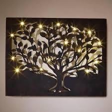 silhouette tree led wall art