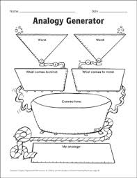 Types Of Analogies Chart Analogy Generator Printable Graphic Organizers Lesson