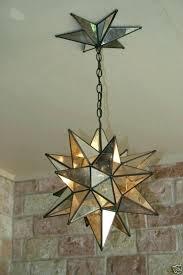 star light mirror and metal canopy pendant mercury glass moravian