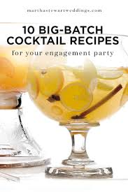10 Big-Batch Cocktail Recipes for Your Engagement Party | Martha Stewart  Weddings - Punch