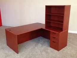 hutch office desk 5. Brilliant Desk Rectangular Ldesk 5 Front LShaped Office Desks To Hutch Desk 5 E