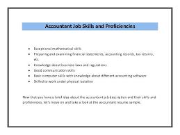 skills for accountant resume accountant job skills accounting skills resume  list