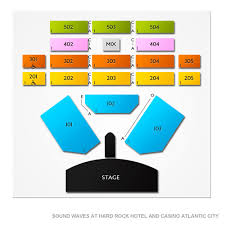 Wave Seating Chart Sound Waves At Hard Rock Hotel And Casino Atlantic City 2019