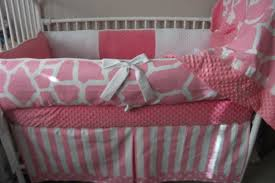 awesome pink and white giraffe girl baby bedding crib set by pink baby girl bedding
