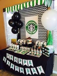 fun party themes for 13 year olds. for the coffee addict - printable birthday starbucks themed party decorations more fun themes 13 year olds i