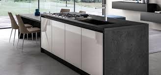 Cucina moderna design ante in vetro lucido opaco glass arredo3
