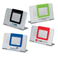never ending perpetual logo personalized desk calendar with