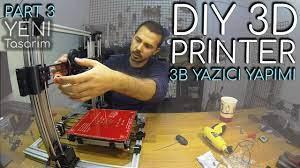 3 Boyutlu Yazıcı YAPIMI (Yeni Tasarım) - PART3 / DIY 3D Printer at Home -  YouTube