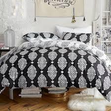black and white mosaic pattern bedding