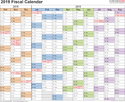 The Year Calendar Fiscal Calendars 2019 As Free Printable Word Templates