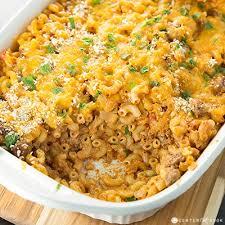 cheesy macaroni and beef cerole recipe