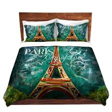 eiffel tower paris themed bedding