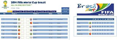World Cup Wall Chart In Excel Excel Dashboards Vba And More