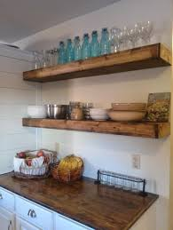Rustic Kitchen Shelving Storage Organization Diy Book Floating Shelves Ideas Diy