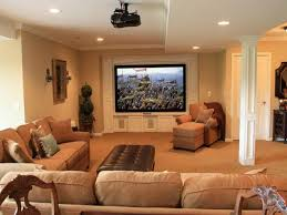 Fancy Finished Basement Ideas with Proper Furnishing Worth to Try of  Basement Ideas with Brown Interior