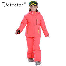 Detector <b>Girl Winter</b> Windproof <b>Ski</b> Jacket and Pant Warm <b>Skiing</b> Suit ...