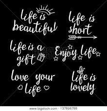 Beautiful Short Quotes About Life Best of Lettering Life Quotes Vector Photo Free Trial Bigstock
