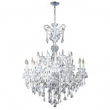 worldwide lighting maria theresa 18 light chrome and clear crystal chandelier