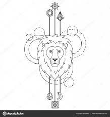 Symbol Geometrické Lev Stock Vektor Kronalux 133784862