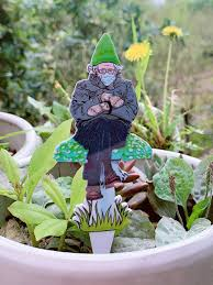 favorable 1 pc wooden garden gnomes