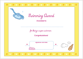 Award Certificate Swimming Printable Award Certificate Lottie Dolls 19