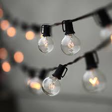 patio lights. Holigoo Patio Lights G40 Globe Christmas String Light,25ft 25 Ball Vintage Bulb Light