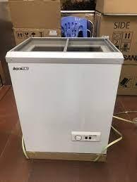 Tủ đông mini mặt kính Aqua Fine JW-80F 90L Hàn quốc - Tủ đông Sanden nhập  khẩu - Tủ mát Sanden intercool