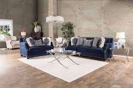 Navy Blue Furniture Living Room Furniture Of America Sm3071 Sf Sm3071 Lv Cornelia Contemporary