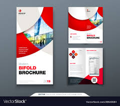 How To Design A Bifold Brochure Bi Fold Brochure Or Flyer Design With Circle