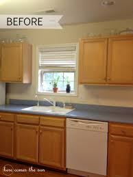 Temporary Kitchen Flooring Update Your Cabinets With Contact Paper