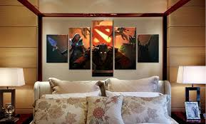 dota 2 hq 5 piece art canvas print arts n games