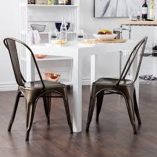 black metal dining chairs. Fresh Black Metal Dining Chairs Trattoria Chair Stackable Set Of 4 Antique Jet Com With Wood And D