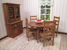 antique english drop leaf table set