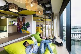 google tel aviv officeview. Google Dublin Campus Series: Amazing Interactive Workspaces : Relaxing Alternative Workspace Of Cheerful Giant Cushion Tel Aviv Officeview