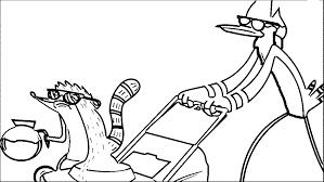 Regular Show Cartoon Network Coffee Cartoon Network Coloring Page
