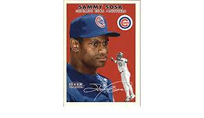 1995 bowman best red refractors #35r sammy sosa: Amazon Com 2000 Fleer Tradition Baseball Card 374 Sammy Sosa Collectibles Fine Art