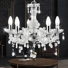 Details About Led Kristall Decken Hänge Kron Leuchter Rgb Dimmer Fernbedienung Pendel Lampe