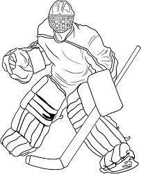 Small Picture Hockey Goal Keeper Player Costume Coloring Page NetArt