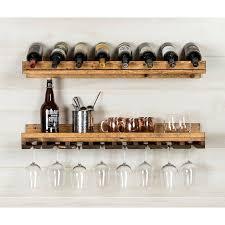 wall mounted wine rack. Berlyn Piece Bottle Wall Mounted Wine Rack Set Inside