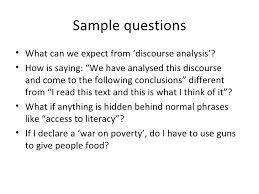 sample research analysis model example of research proposal  discourse analysis for social research
