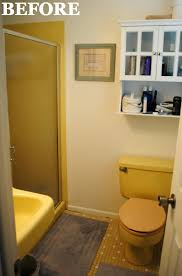a 1965 bathroom gets a much needed overhaul mustard yellow tile