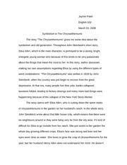 response the chrysanthemums megan coleman lit  4 pages the chrysanthemums