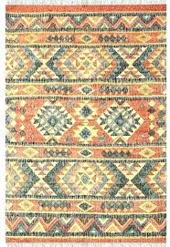 faded kilim indoor outdoor woven rug red and white dark